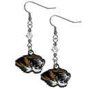 Siskiyou Buckle CCE67 Missouri Tigers Crystal Dangle Earrings
