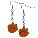 Siskiyou Buckle CCE69 Clemson Tigers Crystal Dangle Earrings