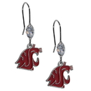 Siskiyou Buckle CCE71 Washington St. Cougars Crystal Dangle Earrings