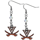 Siskiyou Buckle CCE78 Virginia Cavaliers Crystal Dangle Earrings