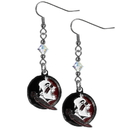 Siskiyou Buckle CCE7 Florida St. Seminoles Crystal Dangle Earrings