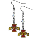 Siskiyou Buckle CCE83 Iowa St. Cyclones Crystal Dangle Earrings
