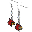 Siskiyou Buckle CCE88 Louisville Cardinals Crystal Dangle Earrings