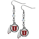 Siskiyou Buckle CCE89 Utah Utes Crystal Dangle Earrings