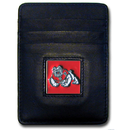 Siskiyou Buckle CCH100BX Fresno St. Bulldogs Leather Money Clip/Cardholder