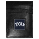 Siskiyou Buckle CCH112 TCU Horned Frogs Leather Money Clip/Cardholder Packaged in Gift Box