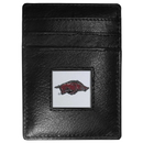 Siskiyou Buckle CCH12 Arkansas Razorbacks Leather Money Clip/Cardholder Packaged in Gift Box