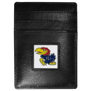 Siskiyou Buckle CCH21 Kansas Jayhawks Leather Money Clip/Cardholder Packaged in Gift Box