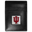 Siskiyou Buckle CCH39 Indiana Hoosiers Leather Money Clip/Cardholder Packaged in Gift Box