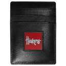 Siskiyou Buckle CCH3 Nebraska Cornhuskers Leather Money Clip/Cardholder Packaged in Gift Box