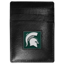 Siskiyou Buckle CCH41 Michigan St. Spartans Leather Money Clip/Cardholder Packaged in Gift Box