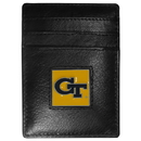 Siskiyou Buckle CCH44 Georgia Tech Yellow Jackets Leather Money Clip/Cardholder Packaged in Gift Box