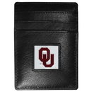 Siskiyou Buckle CCH48 Oklahoma Sooners Leather Money Clip/Cardholder Packaged in Gift Box