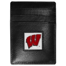 Siskiyou Buckle CCH51 Wisconsin Badgers Leather Money Clip/Cardholder Packaged in Gift Box