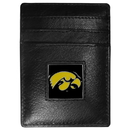 Siskiyou Buckle CCH52 Iowa Hawkeyes Leather Money Clip/Cardholder Packaged in Gift Box