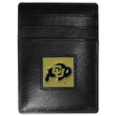Siskiyou Buckle CCH57 Colorado Buffaloes Leather Money Clip/Cardholder Packaged in Gift Box