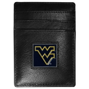 Siskiyou Buckle CCH60 W. Virginia Mountaineers Leather Money Clip/Cardholder Packaged in Gift Box