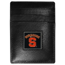 Siskiyou Buckle CCH62 Syracuse Orange Leather Money Clip/Cardholder Packaged in Gift Box