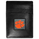Siskiyou Buckle CCH69 Clemson Tigers Leather Money Clip/Cardholder Packaged in Gift Box