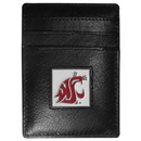Siskiyou Buckle CCH71 Washington St. Cougars Leather Money Clip/Cardholder Packaged in Gift Box