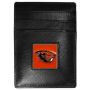 Siskiyou Buckle CCH72 Oregon St. Beavers Leather Money Clip/Cardholder Packaged in Gift Box