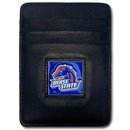 Siskiyou Buckle CCH73 Boise St. Broncos Leather Money Clip/Cardholder Packaged in Gift Box