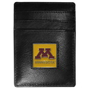 Siskiyou Buckle CCH77 Minnesota Golden Gophers Leather Money Clip/Cardholder Packaged in Gift Box