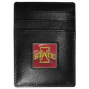 Siskiyou Buckle CCH83 Iowa St. Cyclones Leather Money Clip/Cardholder Packaged in Gift Box