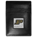 Siskiyou Buckle CCH84 Purdue Boilermakers Leather Money Clip/Cardholder Packaged in Gift Box