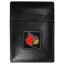 Siskiyou Buckle CCH88 Louisville Cardinals Leather Money Clip/Cardholder Packaged in Gift Box