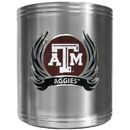 Siskiyou Buckle CCS26F Texas A & M Aggies Steel Can Cooler Flame Emblem