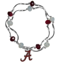 Siskiyou Buckle Alabama Crimson Tide Crystal Bead Bracelet, CCYB13