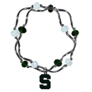 Siskiyou Buckle Michigan St. Spartans Crystal Bead Bracelet, CCYB41