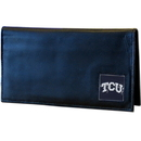 Siskiyou Buckle CDCK112BX TCU Horned Frogs Deluxe Leather Checkbook Cover