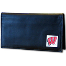 Siskiyou Buckle CDCK51BX Wisconsin Badgers Deluxe Leather Checkbook Cover