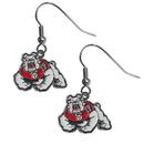 Siskiyou Buckle Fresno St. Bulldogs Chrome Dangle Earrings, CDE100N