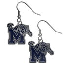 Siskiyou Buckle CDE103N Memphis Tigers Chrome Dangle Earrings