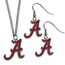 Siskiyou Buckle Alabama Crimson Tide Dangle Earrings and Chain Necklace Set, CDE13CN