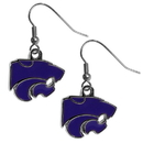Siskiyou Buckle CDE15N Kansas St. Wildcats Chrome Dangle Earrings