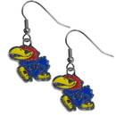 Siskiyou Buckle CDE21N Kansas Jayhawks Chrome Dangle Earrings