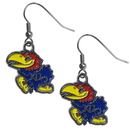 Siskiyou Buckle Kansas Jayhawks Dangle Earrings, CDE21