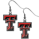 Siskiyou Buckle CDE30N Texas Tech Raiders Chrome Dangle Earrings