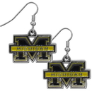 Siskiyou Buckle CDE36N Michigan Wolverines Chrome Dangle Earrings