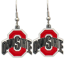 Siskiyou Buckle CDE38 Ohio St. Buckeyes Dangle Earrings