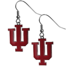 Siskiyou Buckle CDE39N Indiana Hoosiers Chrome Dangle Earrings