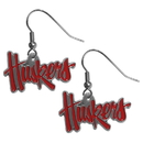 Siskiyou Buckle CDE3 Nebraska Cornhuskers Dangle Earrings