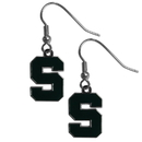 Siskiyou Buckle CDE41N Michigan St. Spartans Chrome Dangle Earrings