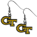 Siskiyou Buckle CDE44N Georgia Tech Yellow Jackets Chrome Dangle Earrings