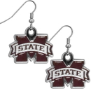 Siskiyou Buckle CDE45N Mississippi St. Bulldogs Chrome Dangle Earrings