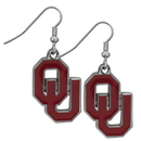Siskiyou Buckle CDE48N Oklahoma Sooners Chrome Dangle Earrings